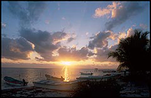 Sunset in Punta Allen MAyan Riviera Maya
