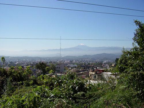 View of Jalapa City in Veracruz