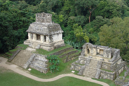 Detailed Historic Sorroundings In Mayan Ruins of Palenque