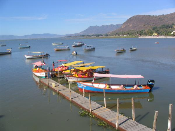 Delightful Setting Of Chapala Small Pier In Jalisco