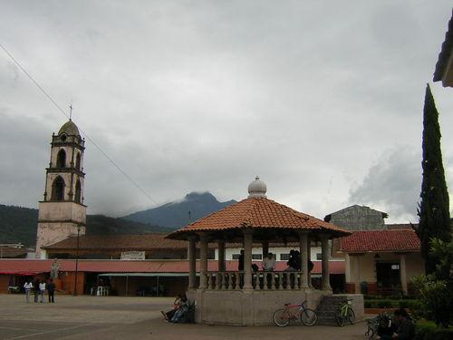 Main Plaza Of The Best Handmade Guitars In Paracho, Michoacan
