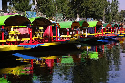 Colorful Boats in Canales de Xochimilco: Mexico's Magical Floating Gardens
