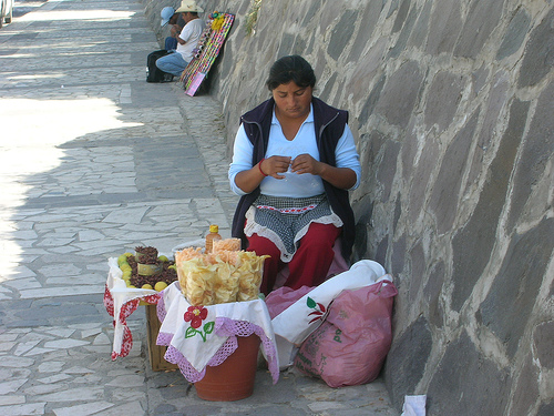 Chapulines sold in Cholula(photo by Andresmh courtesy of Flickr)