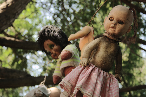 Two Creepy Dolls from Isla de La Munecas