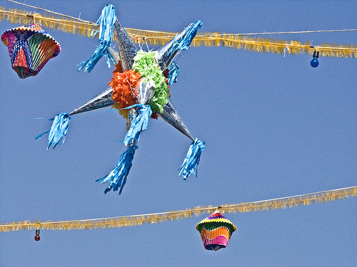 Star Pinata (photo by Gary Denness courtesy of Flickr)