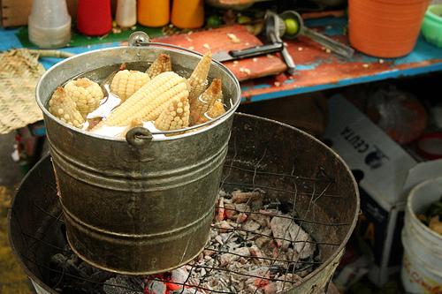Nourishment from the Hidalgo Market in Guanajuato - Boiled Corn
