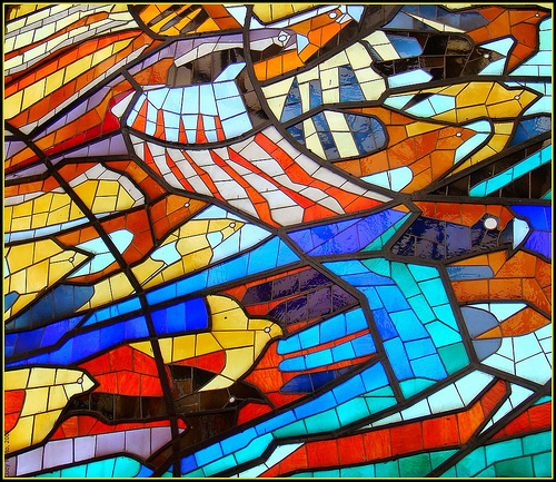 Stained glass (photo by Lucy Nieto courtesy of Flickr)
