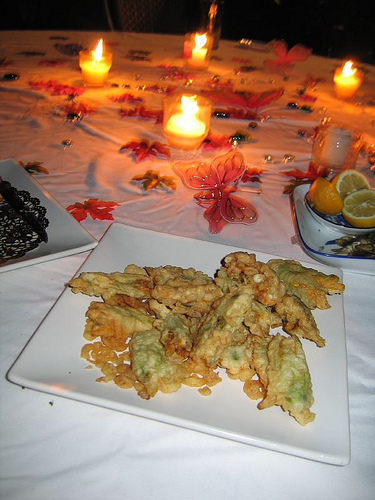 Stuffed squash flowers (photo by DrQuimbo courtesy of Flickr)