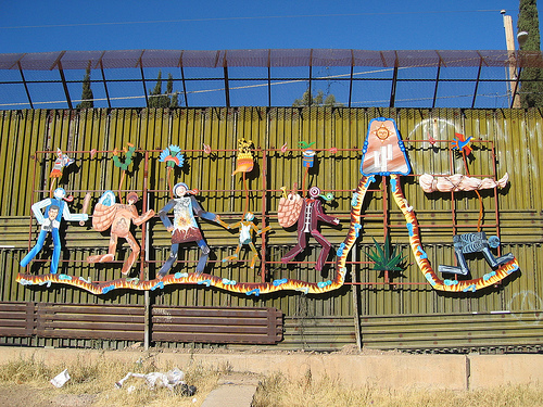 Iconic & Interesting Arts On The Border Wall In Nogales