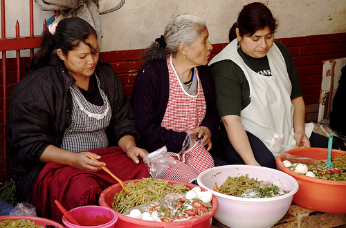Nourishment from the Hidalgo Market in Guanajuato - Ensalada de Nopales