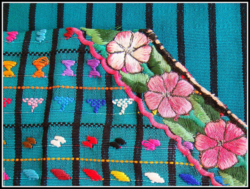 Embroidered Fabric in Mexico