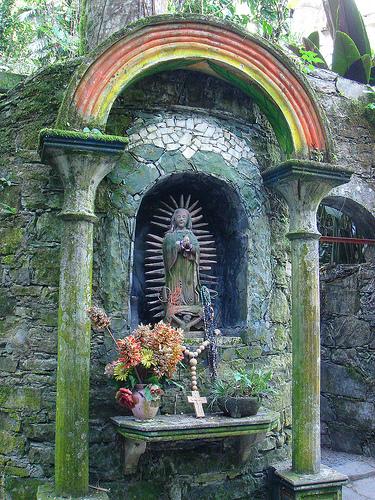 Enchanting Virgen de Guadalupe Statue Of Edward James In Las Pozas