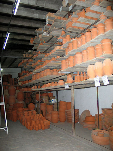 Drying Racks Of The Processed Mexican Talavera