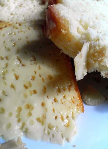 Cake and flan