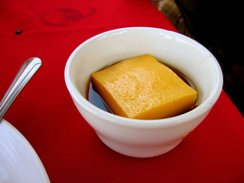 Flan with delicious carmel