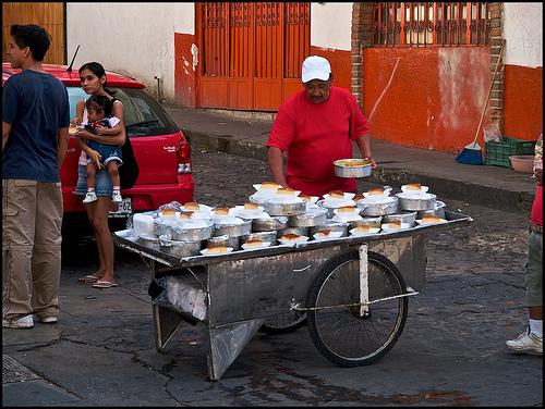 Flan man in Puerto Vallarta