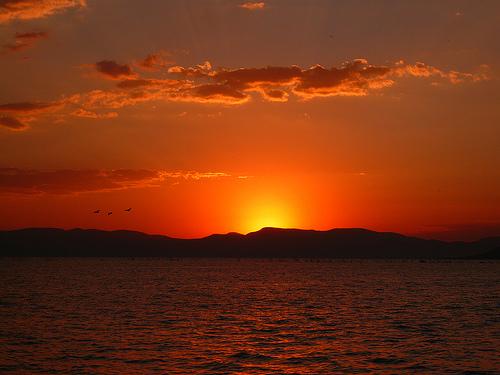 Lake Chapa sunset