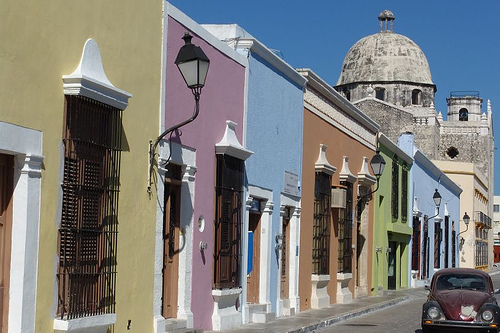 Brilliant Colors of Homes in Campeche