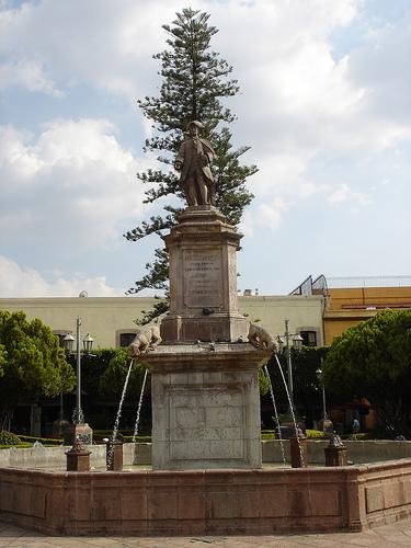 Plaza de Armas Monument Santiago de Queretaro,Mexico